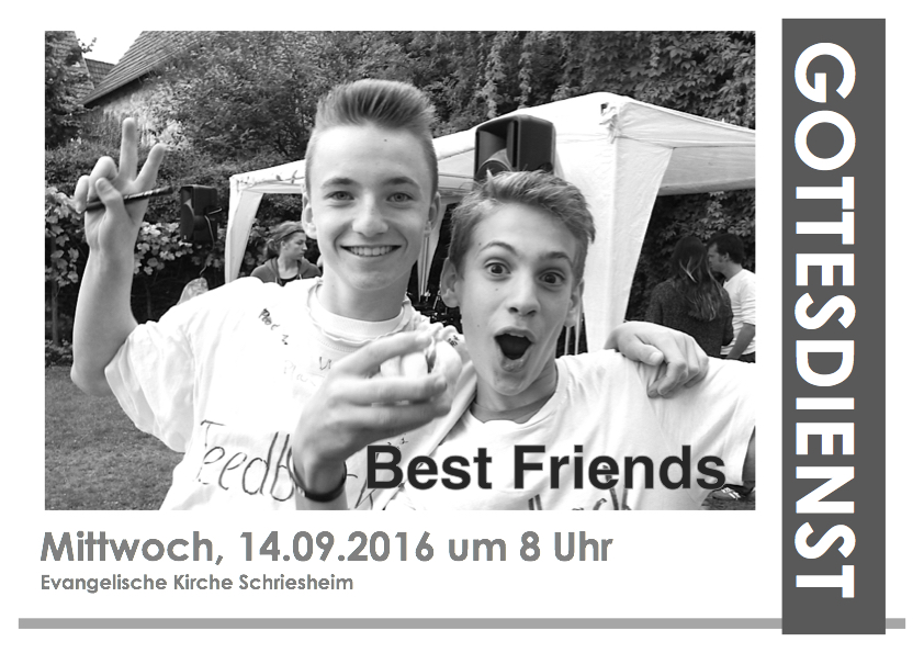 Plakat BEST FRIENDS Gottesdienst