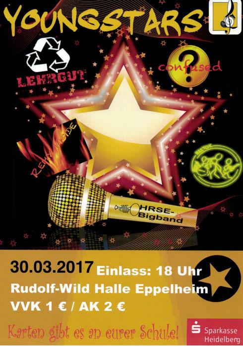30.3. Schulband der Kurpfalz-Realschule in der Rudolf-Wild Halle Eppelheim beim Youngstars Konzert