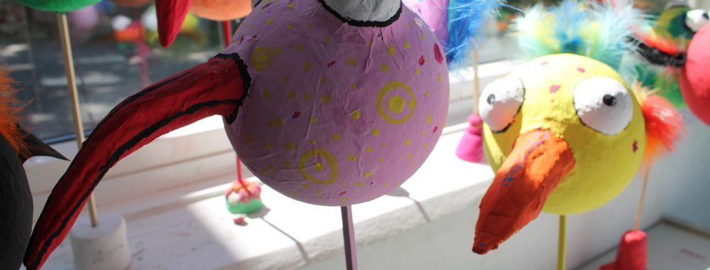 Schräge Vögel aus Pappmaché_Klasse 10 (2)